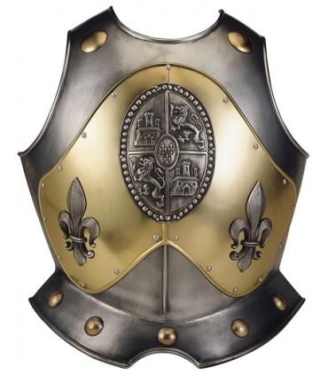 Peto con relieves y grabados para armadura