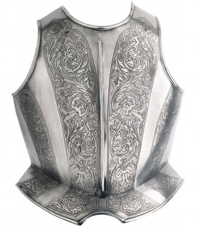 Peto grabado para armadura