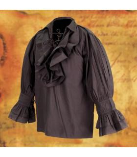 Camisa de pirata ancha con cordones