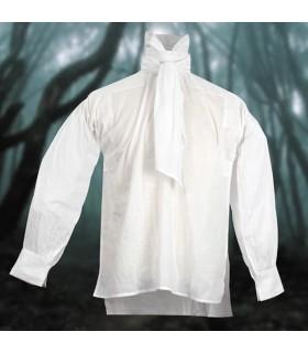 Camisa de cuello alto con chalina