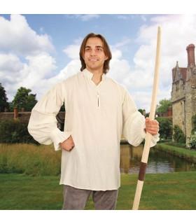 Camisa medieval Fiesta, crema
