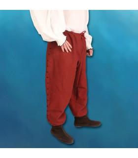 Pantalones Feudales con cordones, cosidos a mano