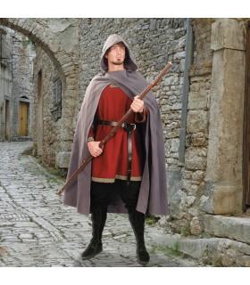 Capa medieval con capucha