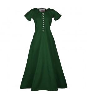Vestido medieval Ava con manga corta