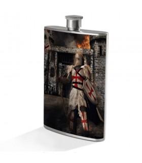 Petaca Guardián Caballero Templario en Acero Inoxidable