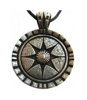 Colgante escudo Celta estrella de la vida