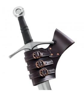 Tahalí para espadas ajustable cuero marrón