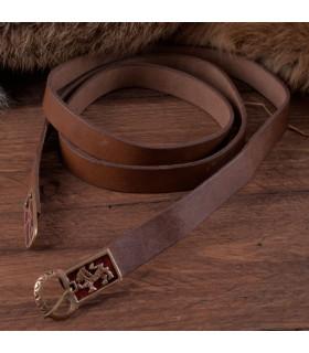 Cinturón largo medieval con leones