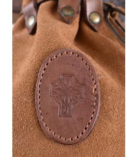 Bolsa Celta piel serraje con cordón