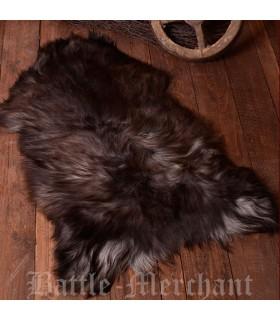 Piel de oveja nórdica moteada natural, 110 cms.