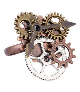 Anillo ajustable SteamPunk engranajes reloj