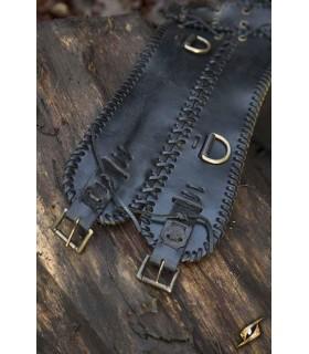Cinturón medieval ancho, doble cierre