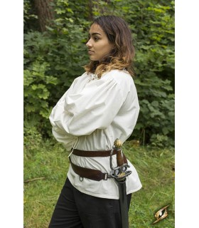 Cinturón medieval doble con tahalí