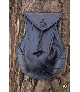 Bolsa Élfica negra en cuero