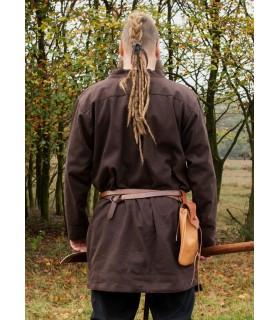 Túnica Vikinga Klappenrock Bjorn en marrón