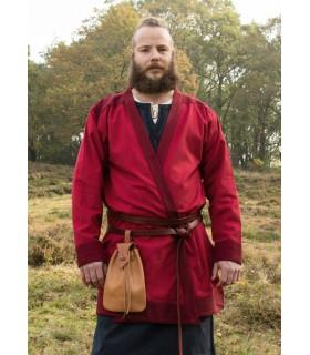 Túnica Vikinga Klappenrock Bjorn en rojo