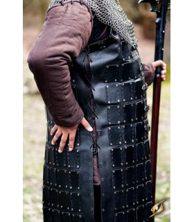 Brigantina medieval larga de cuero