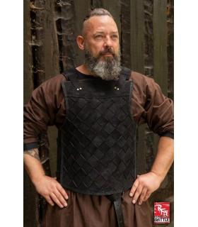 Armadura vikinga en cuero negro