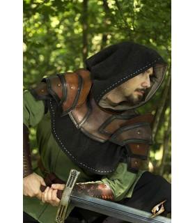 Gorjal medieval de cuero bicolor
