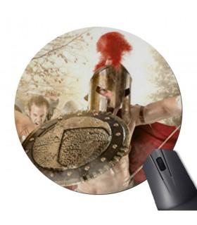 Alfombrilla Ratón Redonda lucha Espartanos