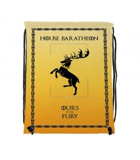 Mochila de cuerdas House Baratheon de Juego de Tronos (34x42 cms.)