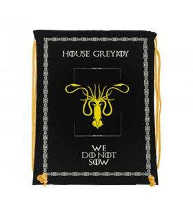 Mochila de cuerdas House GreyJoy de Juego de Tronos (34x42 cms.)