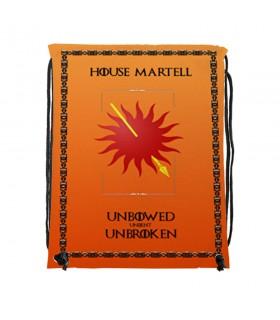 Mochila de cuerdas House Martell de Juego de Tronos (34x42 cms.)