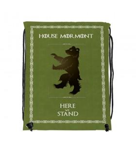 Mochila de cuerdas House Mormont de Juego de Tronos (34x42 cms.)