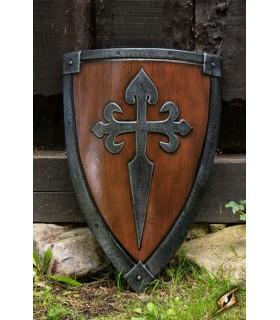 Escudo Cruzados LARP, 70 x 50 cm.