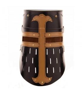 Gran Yelmo Cruzados, cuero negro