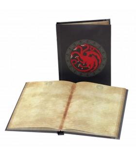Libreta con luz casa Targaryen de Juego de Tronos