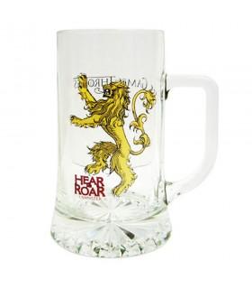 Jarra de cerveza de cristal Hear Me Roar Lannister de Juego de Tronos