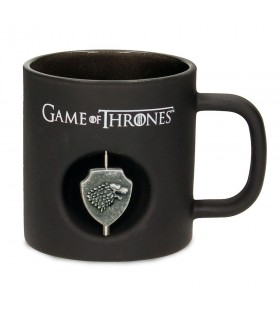 Taza negra Cristal Stark de Juego de Tronos