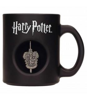 Taza negra Cristal Gryffindor de Harry Potter