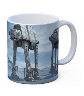 Taza de cerámica blanca Batalla de Hoth de Star Wars