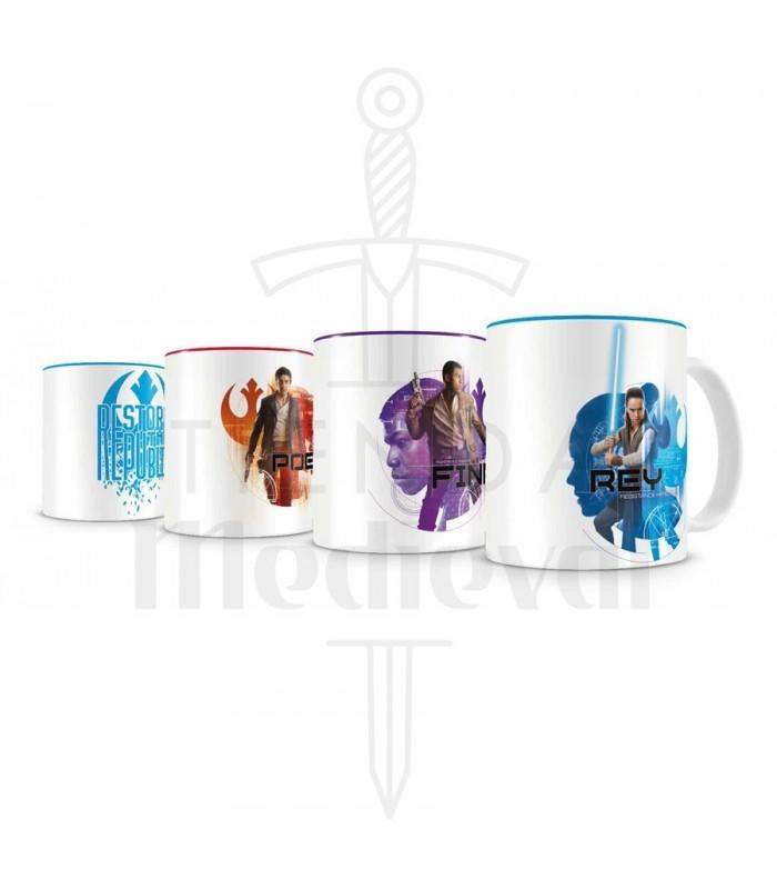 Set Resistencia 4 mini tazas café cerámica Star Wars EP VIII