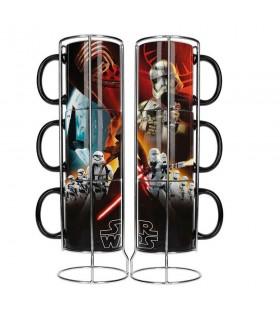 Set de 3 tazas apilables de cerámica Star Wars. Ep7