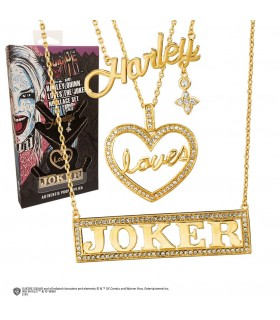 Set 3 colgantes Harley, loves, Joker película Escuadrón Suicida