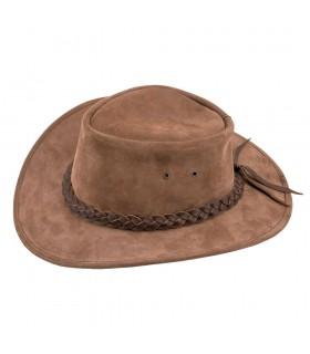 Sombrero marrón de vaquero lejano oeste