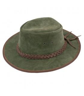 Sombrero verde de vaquero lejano oeste