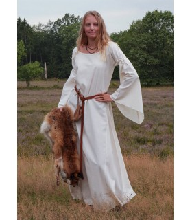 Vestido medieval mujer Burglinde mangas trompeta