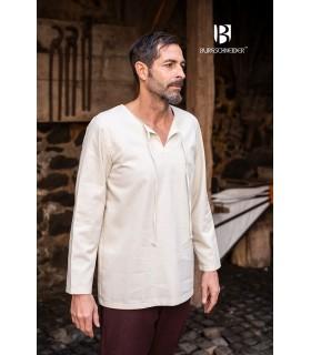 Camisa medieval lazos Ulrich, crema