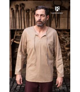 Camisa medieval lazos Ulrich, cáñamo