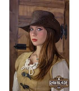 Sombrero Corsarios de media ala deluxe, marrón