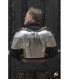 Hombreras medievales Milanesas, acero pulido