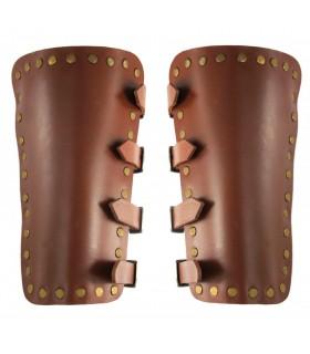 Brazaletes Medievales Mar en cuero marrón