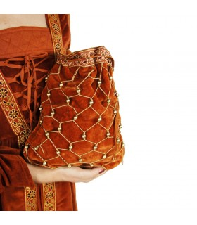 Bolso redecilla terracota mujer noble medieval