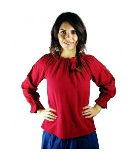 Blusa medieval mujer Bettina, rojo