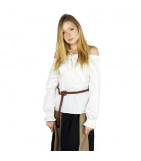 Blusa medieval mujer Bettina, blanco