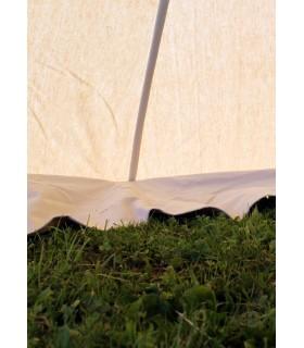 Jaima medieval Herold de 4 x 4 m. algodón blanco natural